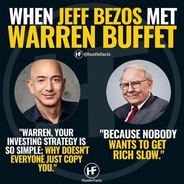 When Jeff Bezos met Warren Buffett🤹‍💰 What is your opinion on this👇 - If you d… | Motivational quotes for success, Inspirational quotes pictures, Business quotes