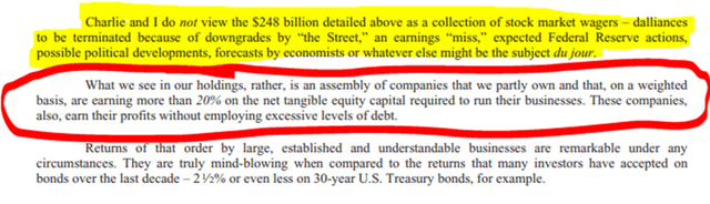 Berkshire's approach to stock market investing - Source: Berkshire 2019 annual report