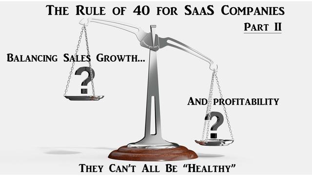Rule of 40 for SaaS companies, Pt 2