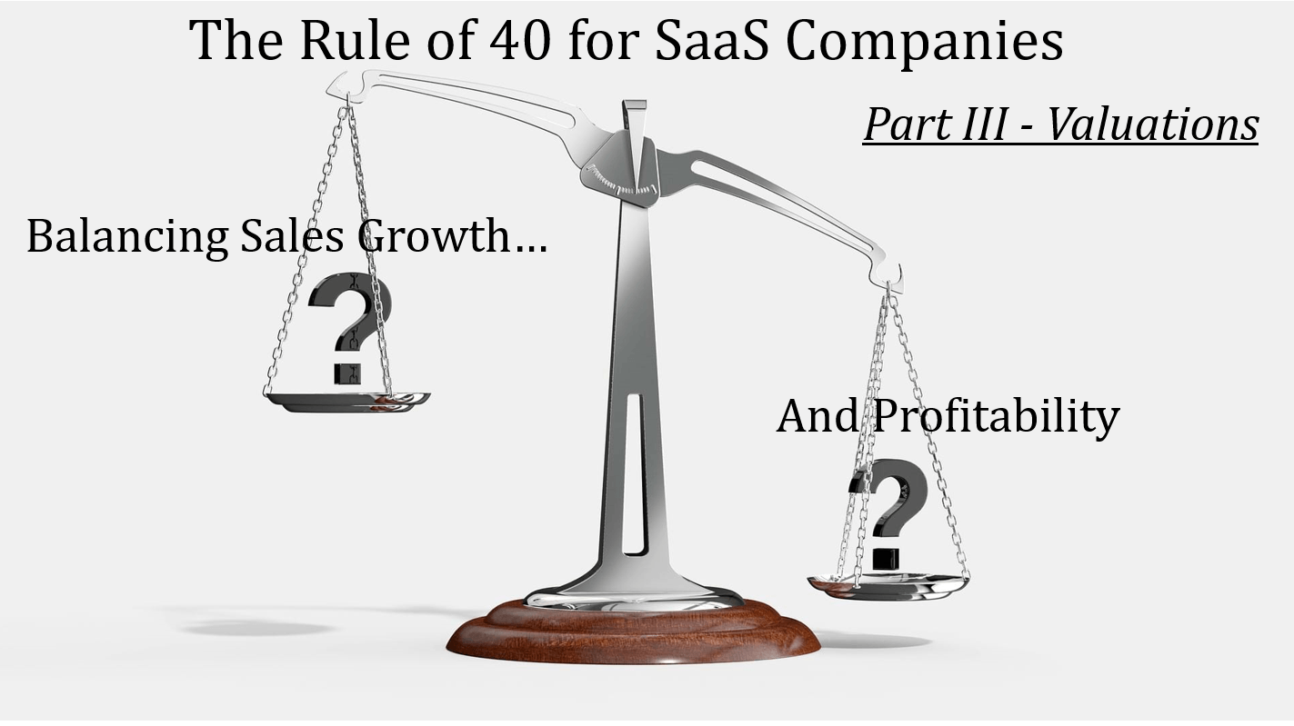 Rule Of 40 For SaaS Companies - Part 3, Valuation
