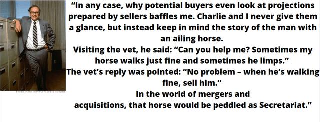 Buffett on acquisitions