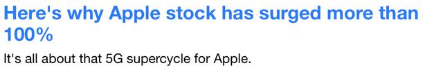 Yahoo Finance Apple stock news 31 Jan, 2020