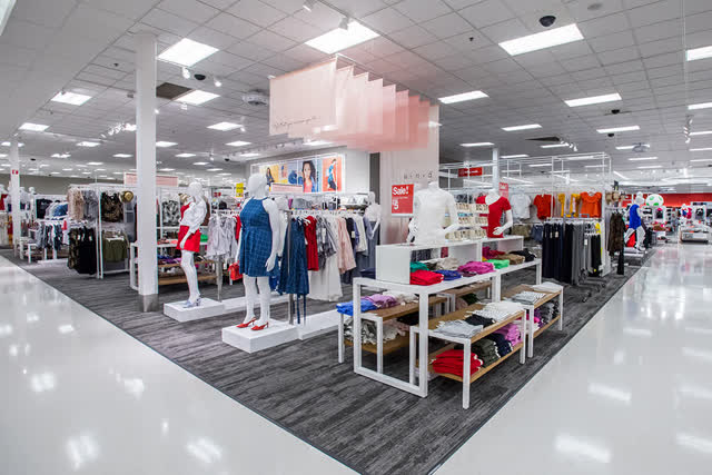 A Target apparel section