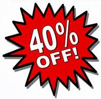 Image result for 40% off pic