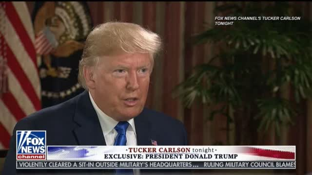 Trump on Tucker Carlson Tonight Fox News