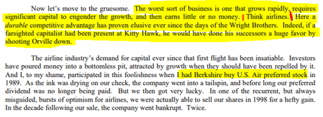 Warren Buffett letter to shareholders