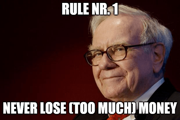 Never lose money, Buffett quote