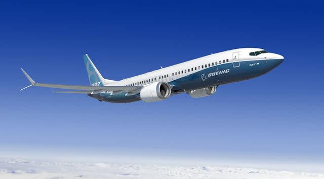Una representación de un Boeing 737 MAX 8 en vuelo