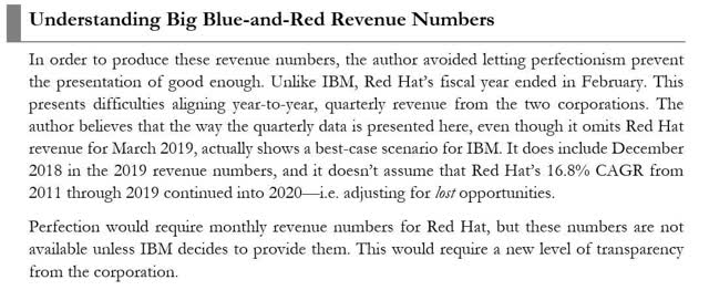 How to interpret the IBM and Red Hat Revenue Numbers