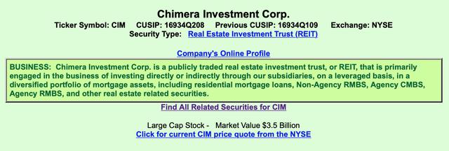 CIM Company Information