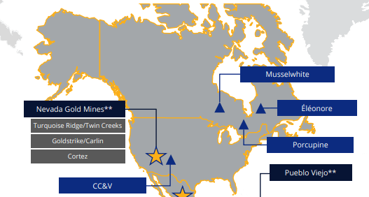 Newmont Gold Canada Map
