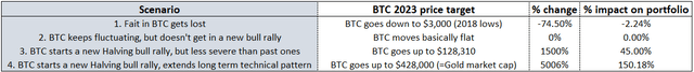 Bitcoin BTC long term price scenario