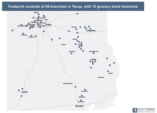 Southside Bancshares Branch Network