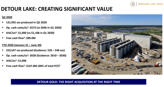 Detour Lake Gold Mine Q2 and YTD Summary
