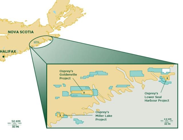 Osprey Gold Goldenville Project Map