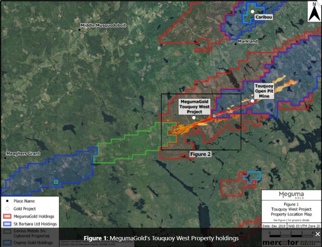 Meguma Gold Nova Scotia Project Map