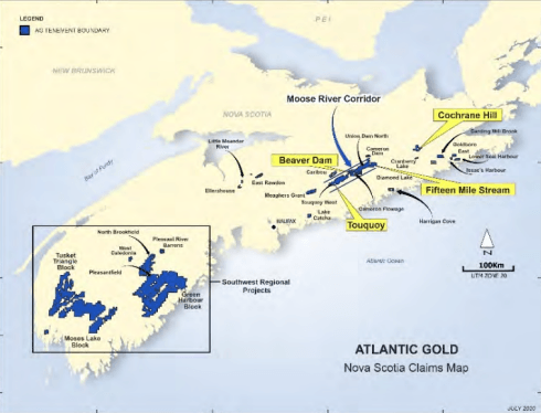 St Barbara Nova Scotia Project Map