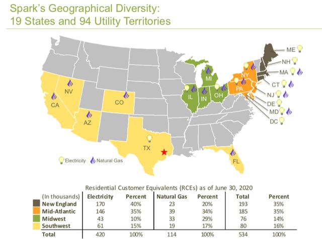 Spark [SPKE] - geography, 19 states