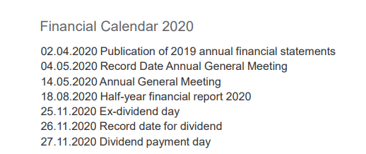 Frequentis dividend payment – Source: Frequentis investor relations