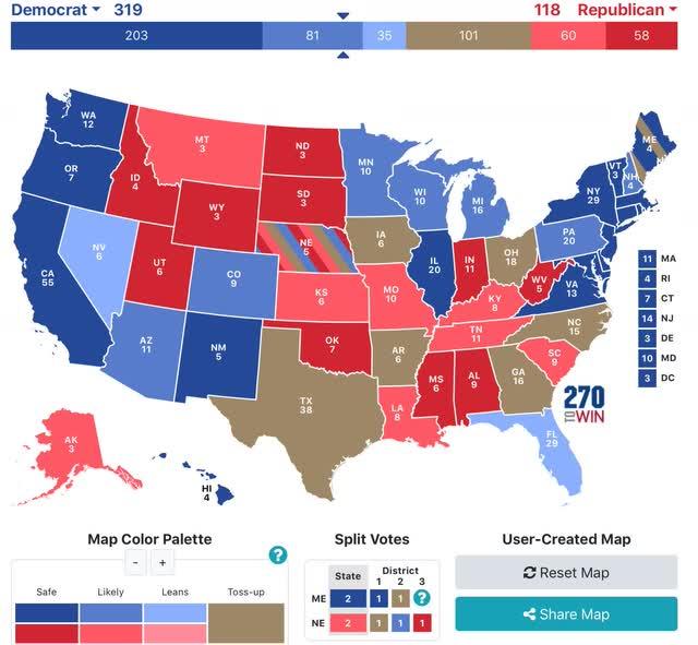 Angry Bear »O presidente e o Senado de 2020 agora previstos: as corridas congelam 3
