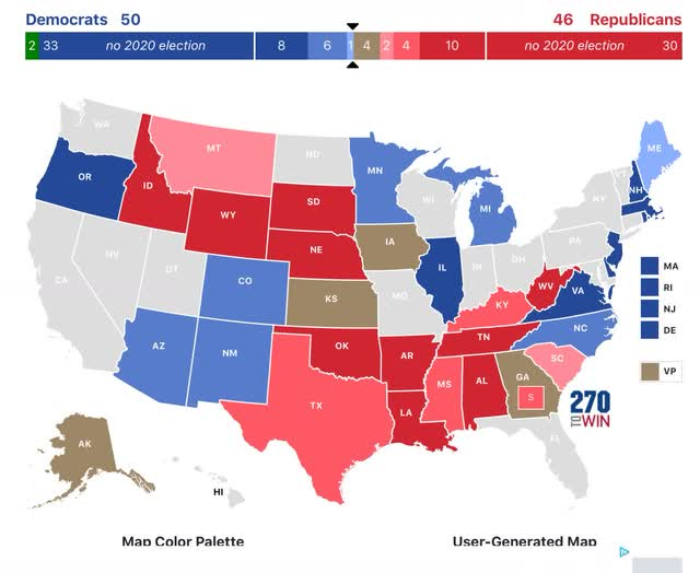 Angry Bear »O presidente e o Senado de 2020 agora previstos: as corridas congelam 4
