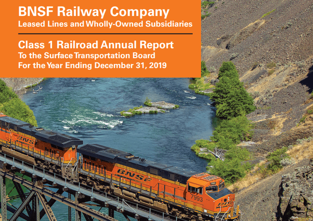 Burlington Santa FE – Acquired by Berkshire in 2009 – Source: BNSF 2019 Report