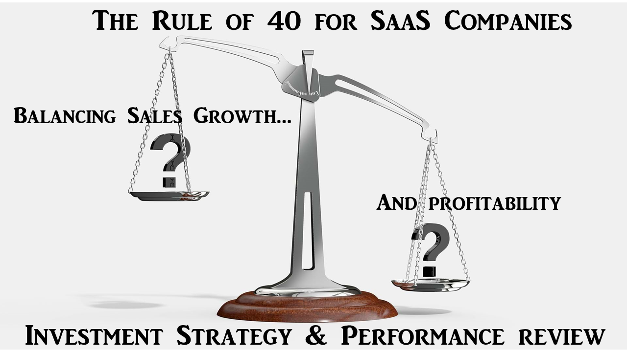 Rule of 40 for SAAS companies, historical performance