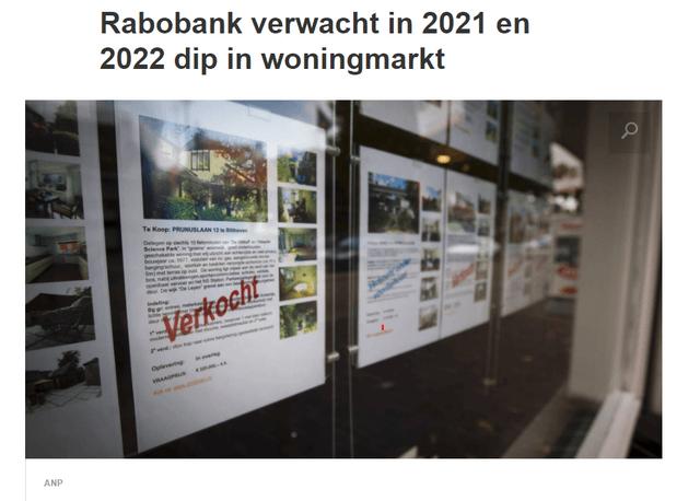 Real estate market crash in the Netherlands – Source: NOS