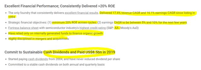 TSM stock analysis – Source: TSMC investor relations