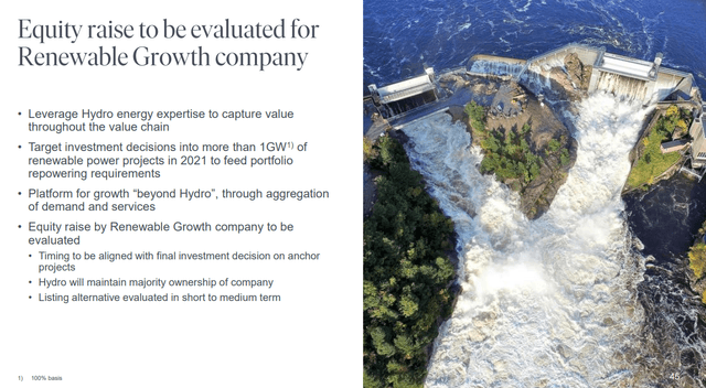 Norsk Hydro equity strategy – Source: Norsk Hydro Investor Presentation