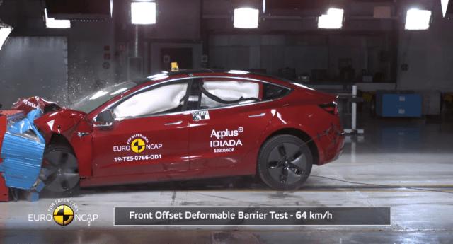 Euro NCAP Crash testing a Tesla