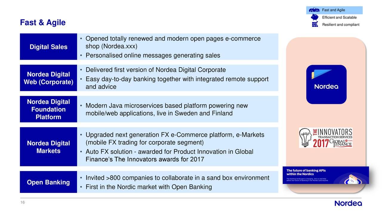 Nordea Bank (NRBAY) Investor Presentation - Slideshow - Nordea Bank AB ADR (OTCMKTS:NRBAY ...