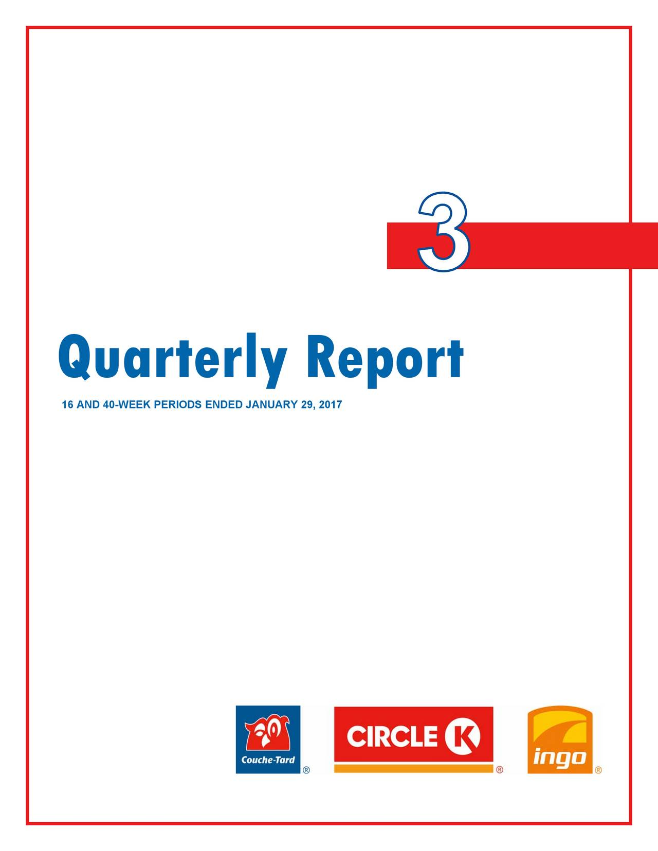 Alimentation Couche-Tard Inc. 2017 Q3 - Results - Earnings ...
