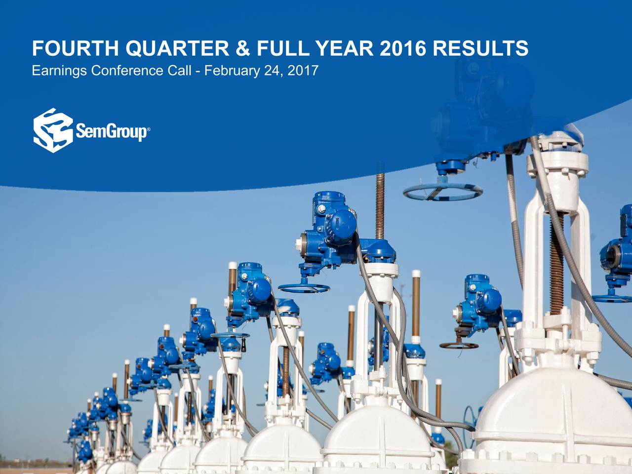 Earnings Conference Call - February 24, 2017