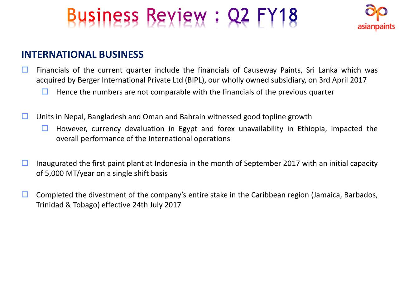 Business Case Studies, Going Global Case Study, Asian Paints India Ltd,The Global Strategies