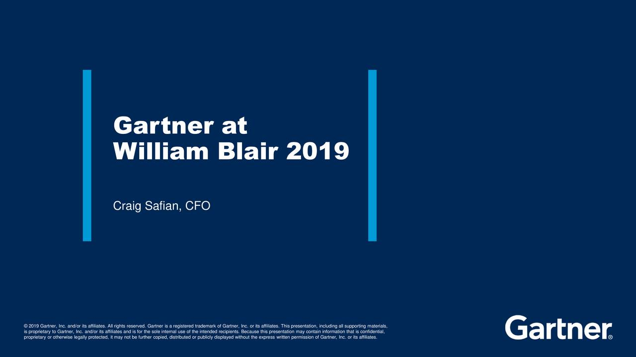 Gartner (IT) Presents At William Blair Growth Stock Conference - Slideshow