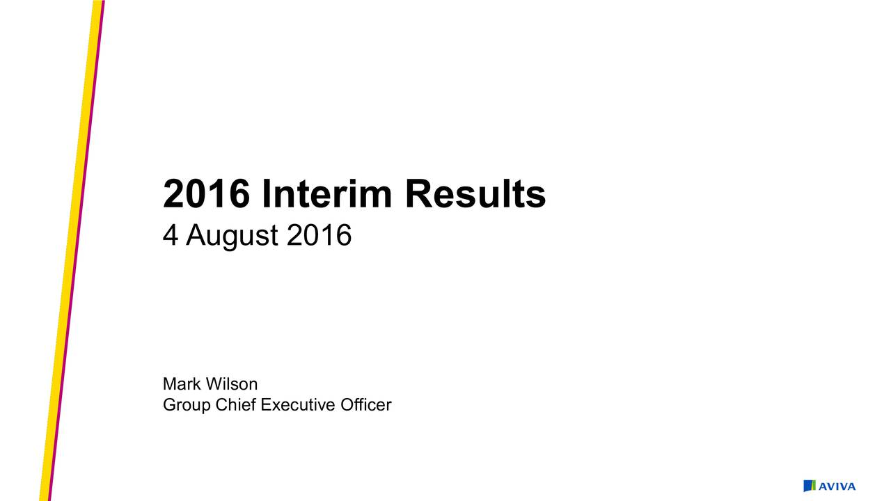 4 August 2016 Mark Wilson Group Chief Executive Officer