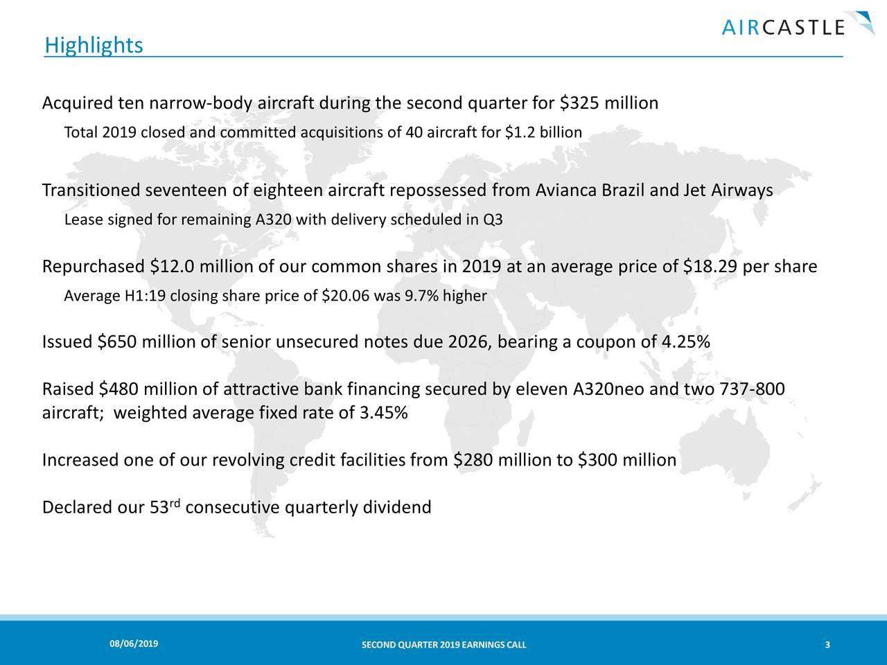 Aircastle Limited 2019 Q2 - Results - Earnings Call Slides