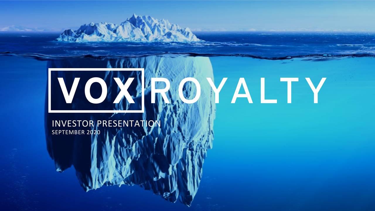 VOX Royalty : Fil dédié. 1