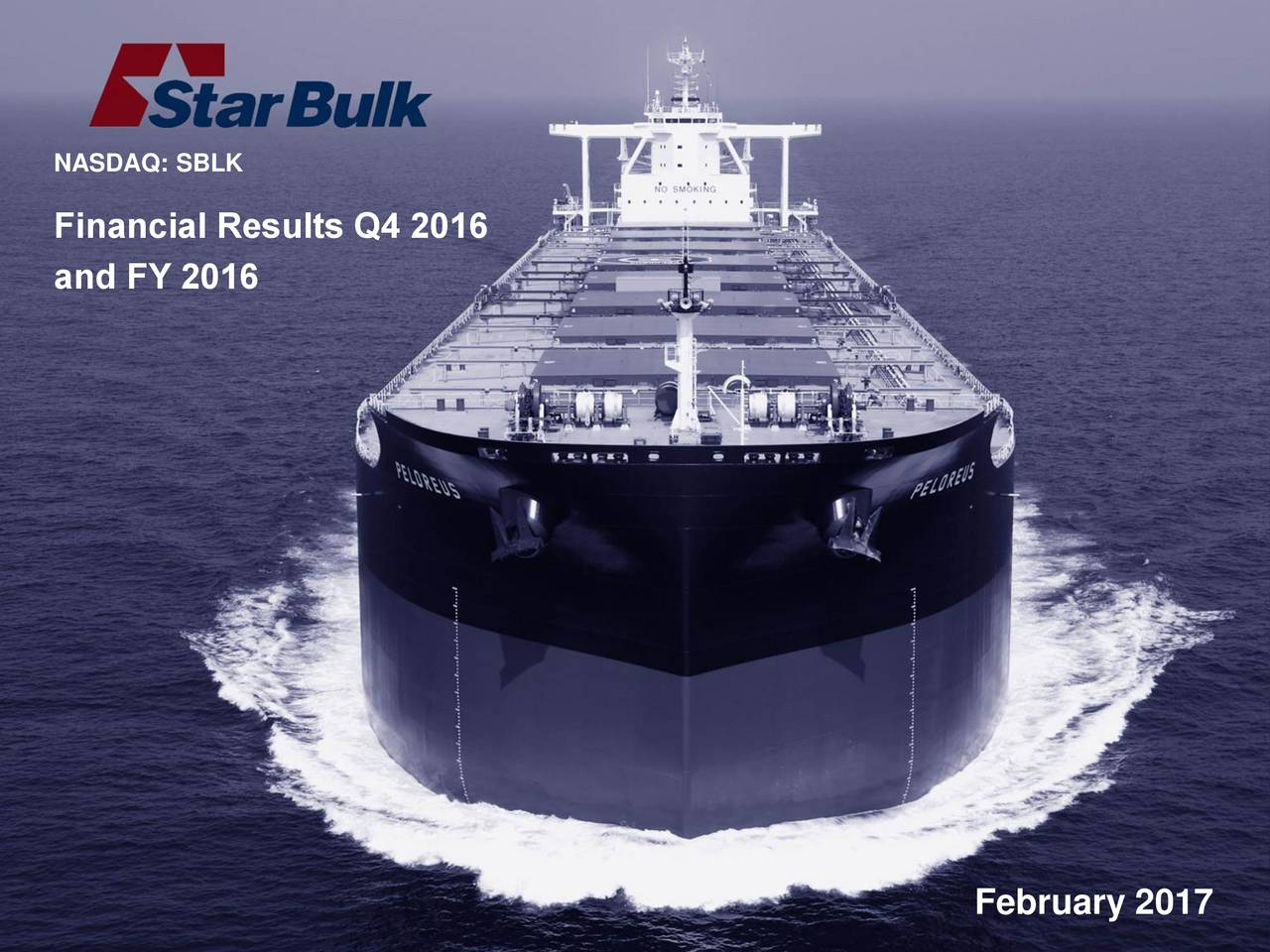 Financial Results Q4 2016 and FY 2016 February 2017