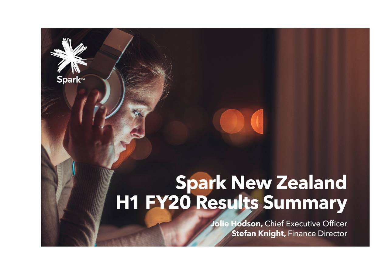 Spark New Zealand Limited 2020 Q2 - Results - Earnings Call Presentation - Spark New Zealand Limited (OTCMKTS:SPKKY) | Seeking Alpha