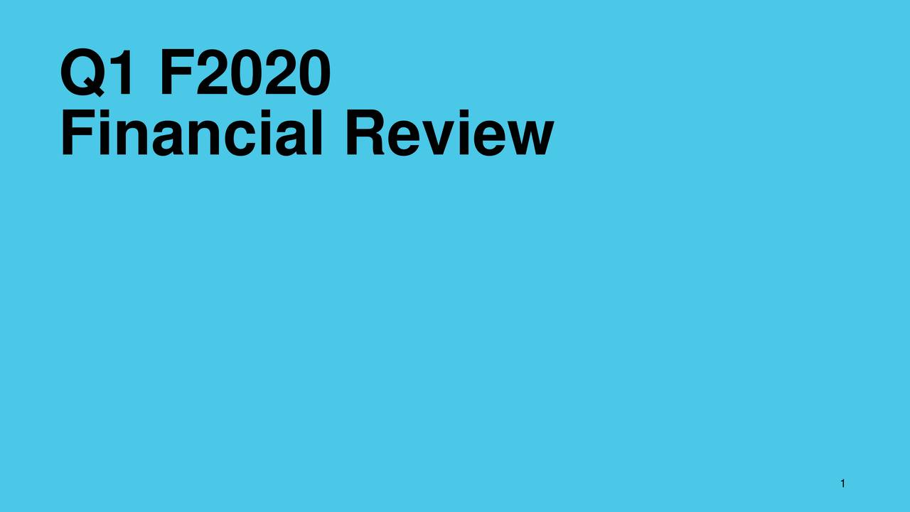 Financial Review 1