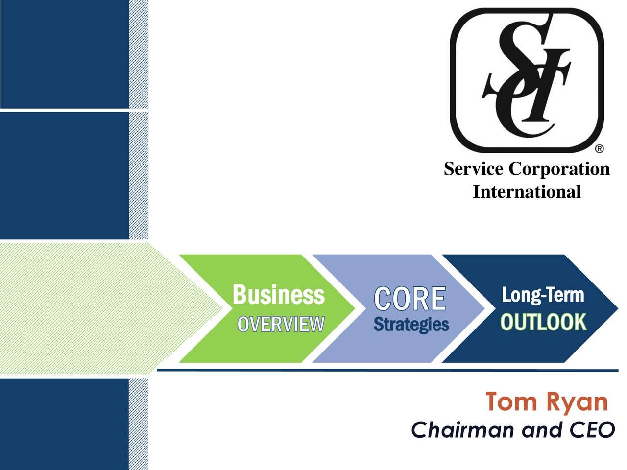 International Long-Term Business Strategies Tom Ryan Chairman and CEO