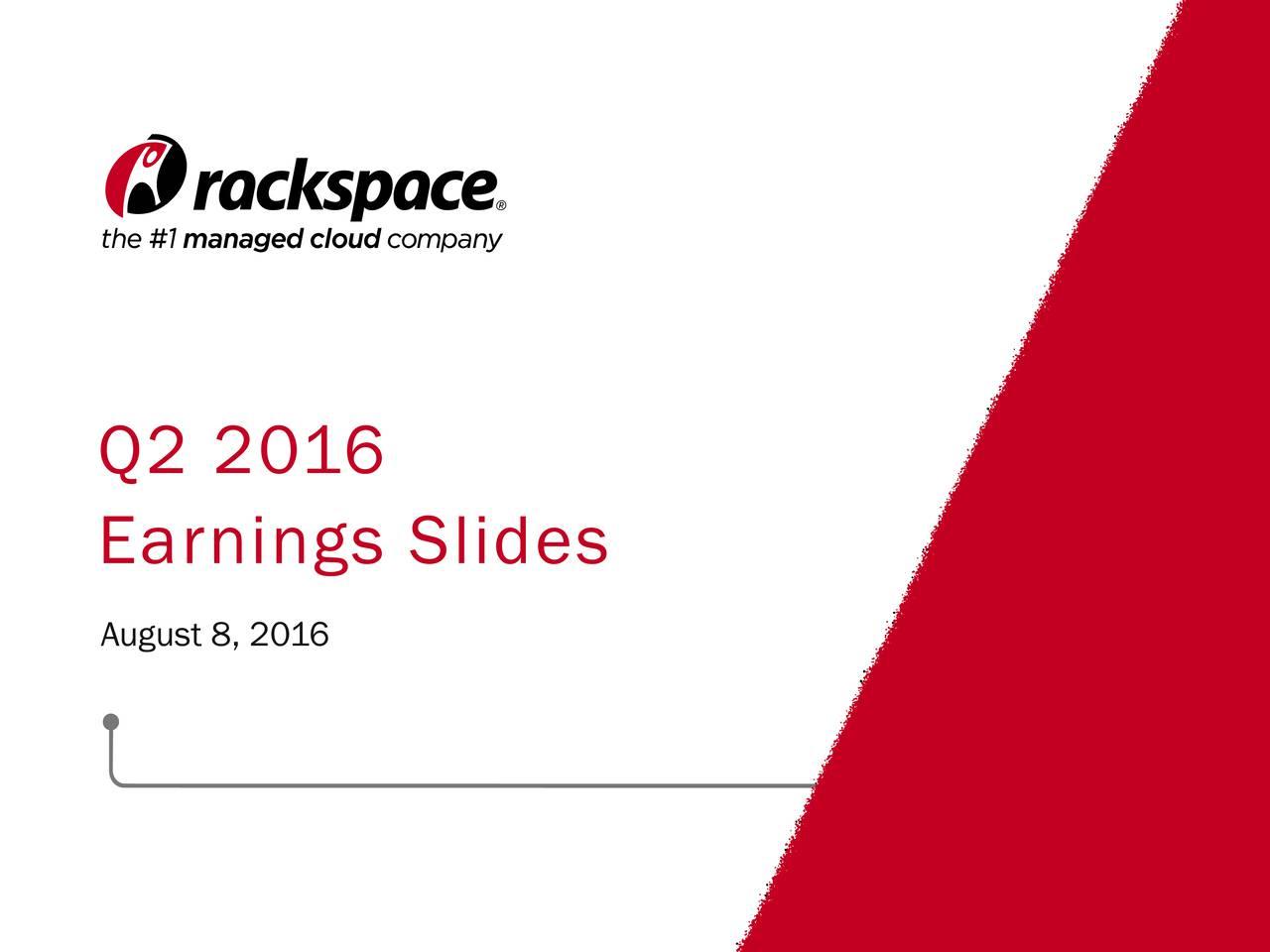 Earnings Slides August 8, 2016