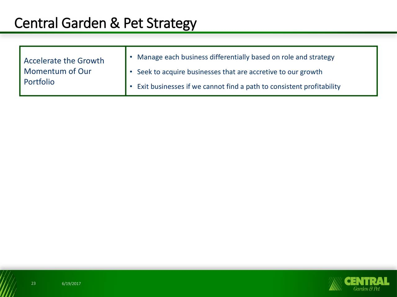 Central Garden Pet Company Cent Presents At Oppenheimer Consumer Conference Slideshow