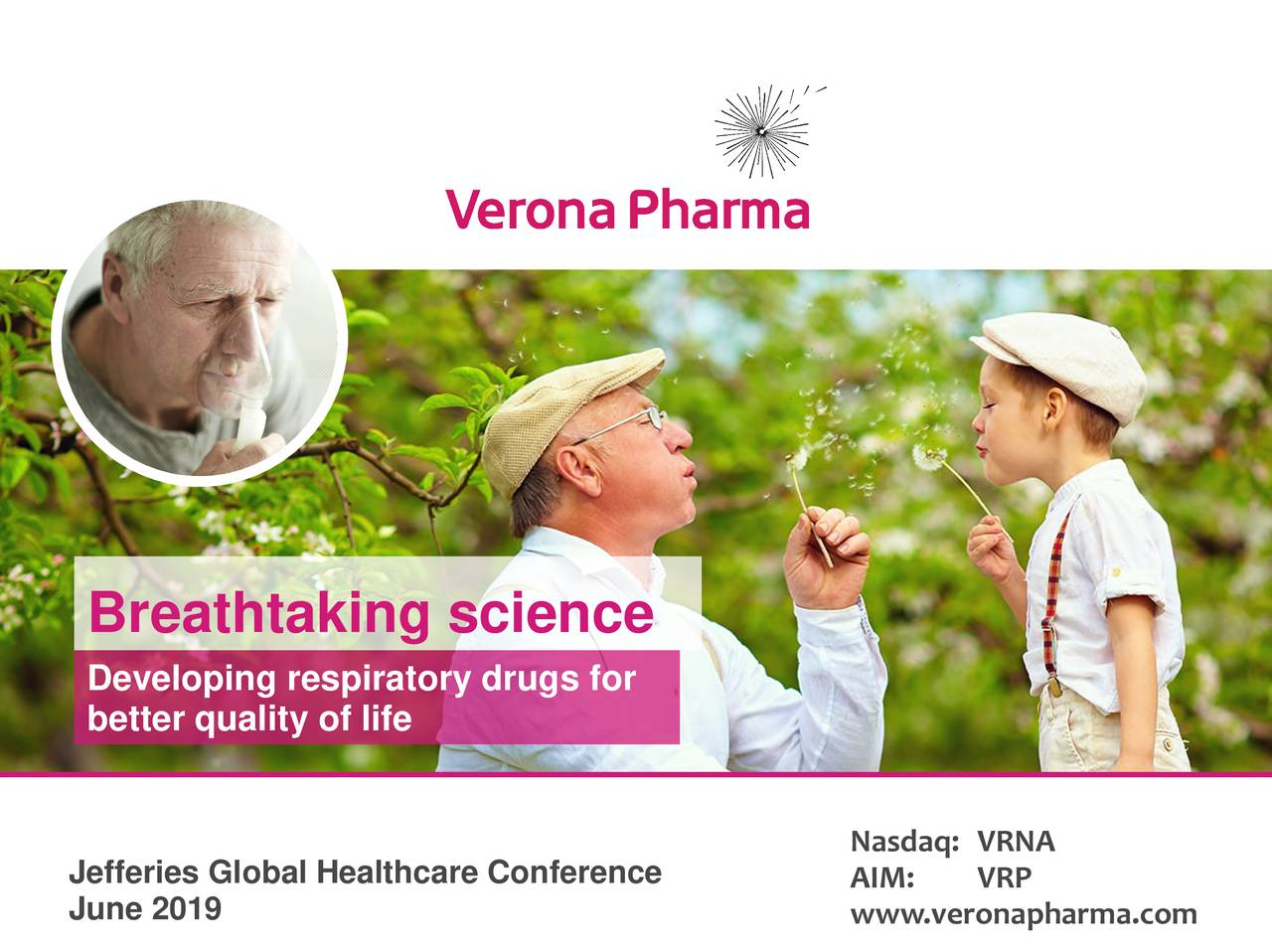 Verona Pharma (VRNA) Presents At Jefferies 2019 Healthcare Conference - Slideshow