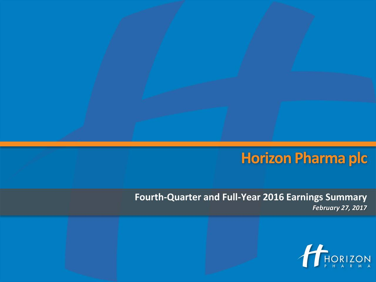 Fourth-Quarter and Full-Year 2016 Earnings Summary February27, 2017