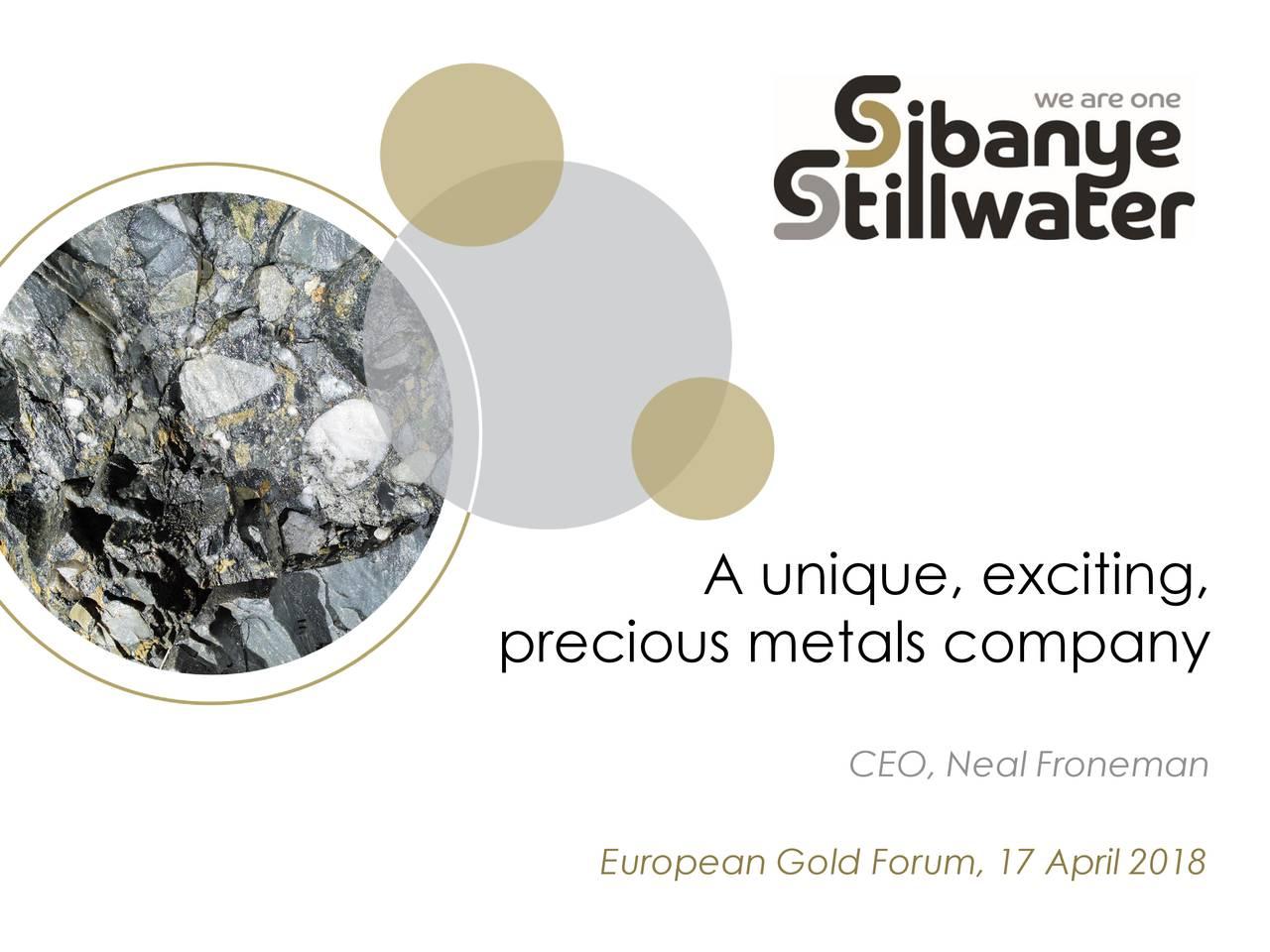 Sibanye Gold (SBGLF) Presents At European Gold Forum