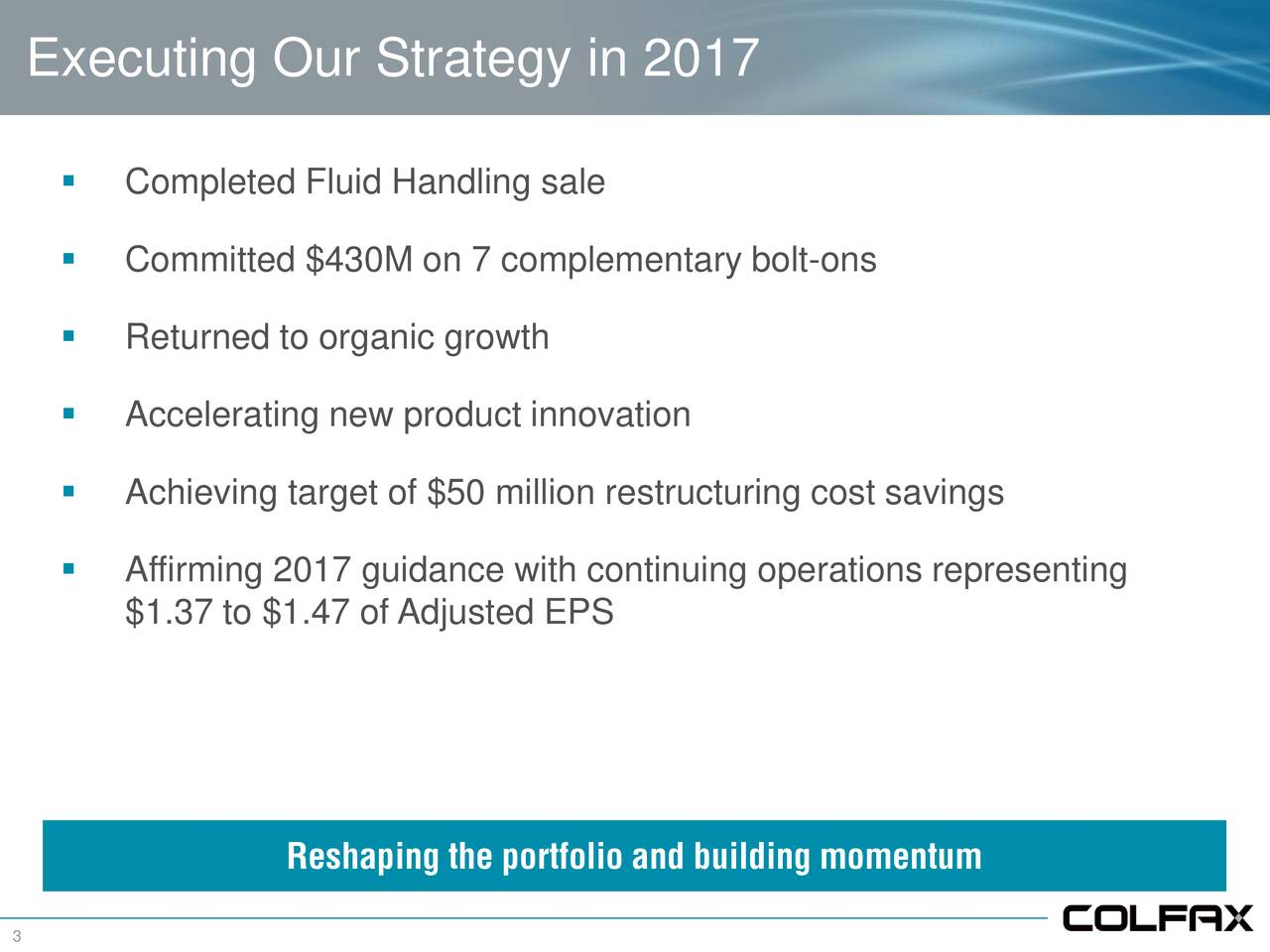 Colfax (CFX) Updates On 2018 Outlook and Reporting Changes ...