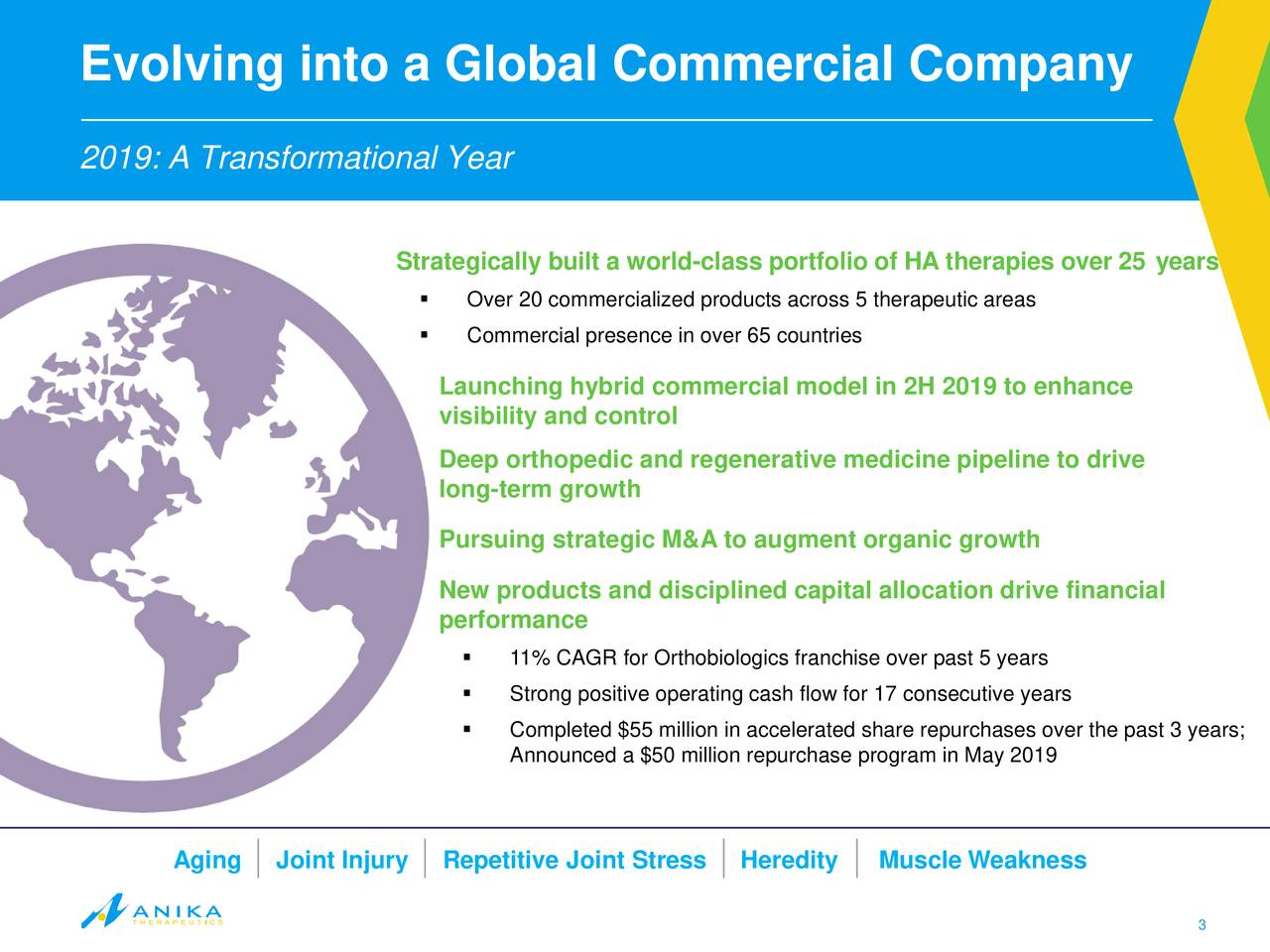Evolving into a Global Commercial Company